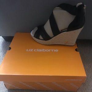 Brand new black Liz Claiborne wedges